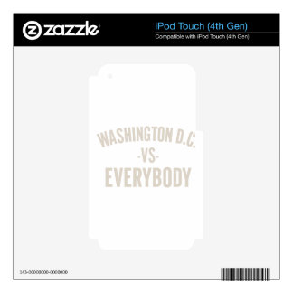 Washington DC Vs Everybody Skins For iPod Touch 4G