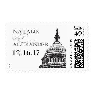 Washington DC wedding stamp - US Capitol - Custom