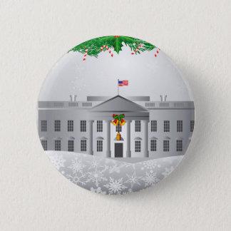 Washington DC White House Christmas Scene Button