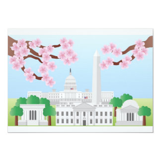 Washington DC with Cherry Blossoms Invitation