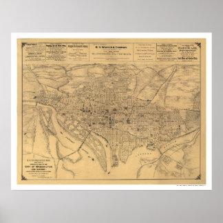 Washington DC y mapa de los suburbios por Gedney 1 Impresiones
