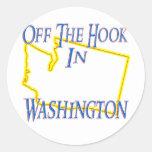 Washington - del gancho pegatina redonda