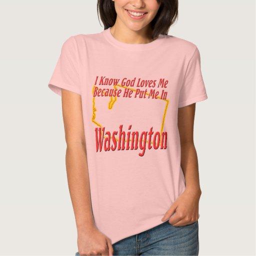 Washington - dios me ama t-shirts