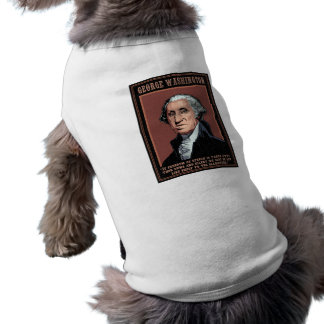 Washington - discurso libre playera sin mangas para perro