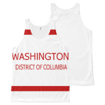 Washington District of Columbia All-Over Printed All-Over-Print Tank Top