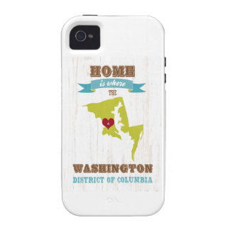 Washington, District of Columbia - Home Is Where Case-Mate iPhone 4 Case