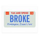Washington Doesn't Care Post Card