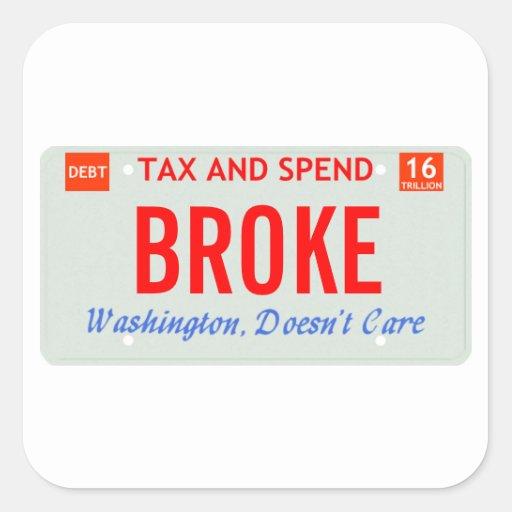 Washington Doesn't Care Sticker