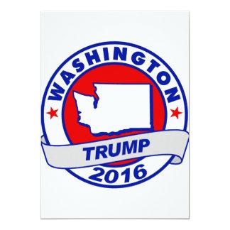 """Washington Donald Trump 2016.png Invitación 5"""" X 7"""""""