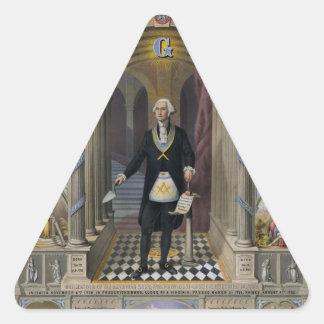 Washington el albañil II Calcomanía Triangulo Personalizadas