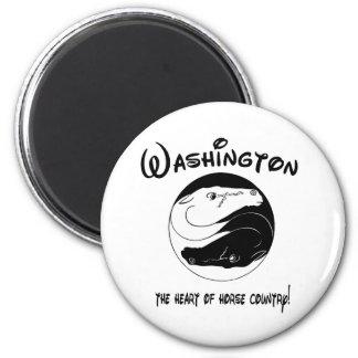 Washington, el corazón del país del caballo imanes de nevera