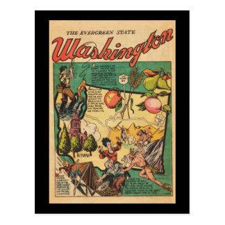 Washington el estado imperecedero postales