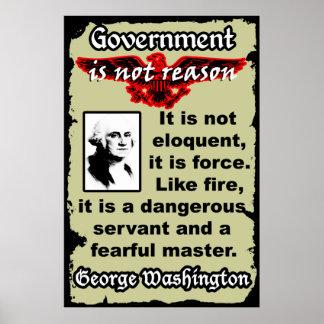 Washington: El gobierno es como el fuego Póster