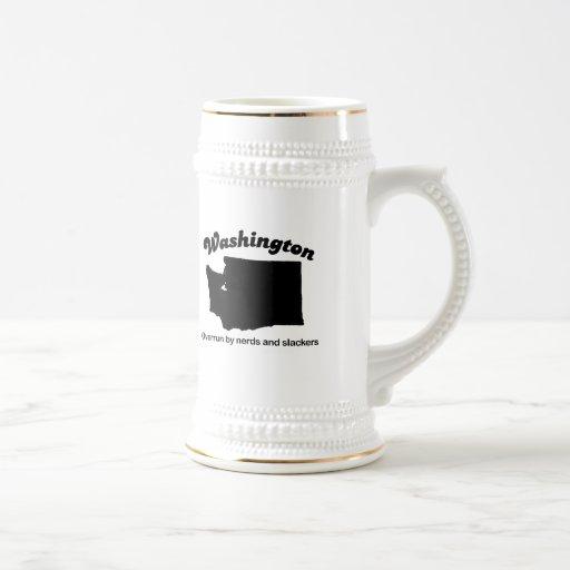 Washington - empollones y Slackers Tazas De Café