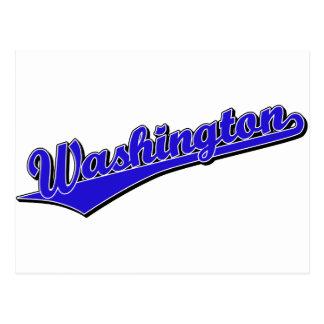 Washington en azul tarjetas postales