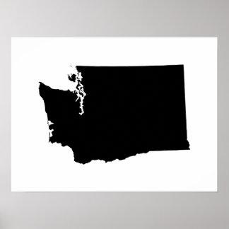 Washington en blanco y negro poster