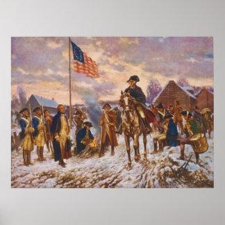 Washington en la fragua del valle de Edward P. Póster