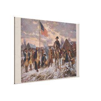 Washington en la fragua del valle de Edward Percy Lienzo Envuelto Para Galerías