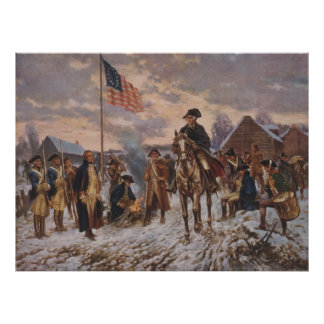 Washington en la fragua del valle de Edward Percy Póster