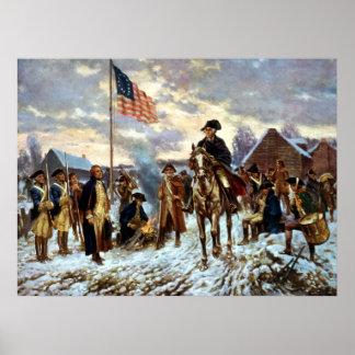 Washington en la fragua del valle póster
