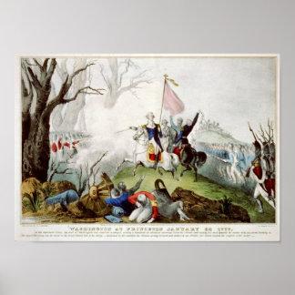 Washington en Princeton el 3 de enero de 1777 Poster
