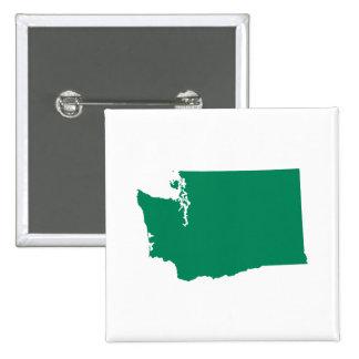 Washington en verde pin cuadrado
