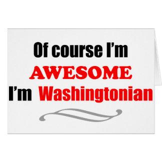 Washington es impresionante tarjeta de felicitación