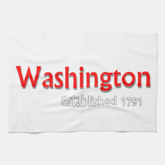 "Washington estableció la toalla de cocina 16"" x"