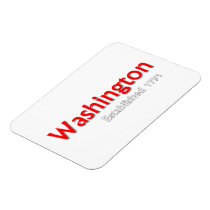 """Washington Established 3""""x4"""" Flexible Photo Magnet"""