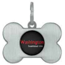 Washington Established Bone Pet Tag