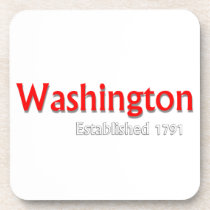 Washington Established Hard Plastic Coaster Set