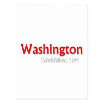 Washington Established Postcard