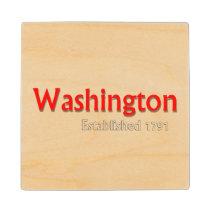 Washington Established Wooden Coaster