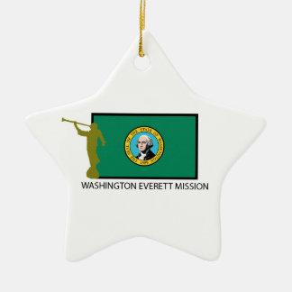 WASHINGTON EVERETT MISSION LDS CTR CERAMIC ORNAMENT