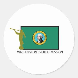 WASHINGTON EVERETT MISSION LDS CTR CLASSIC ROUND STICKER