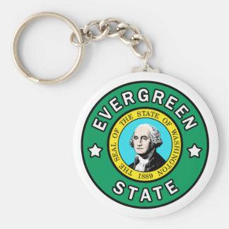 Washington Evergreen State keychain