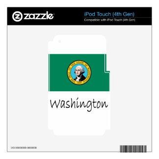 Washington Flag And Name iPod Touch 4G Skins