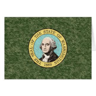 WASHINGTON FLAG CARD