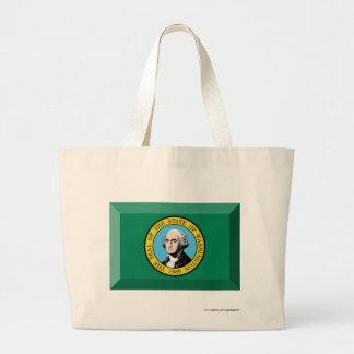 Washington Flag Gem Tote Bag