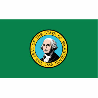 Washington Flag Keychain Cut Out