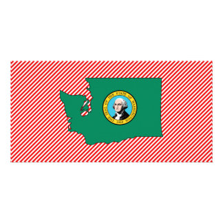Washington Flag Map Card