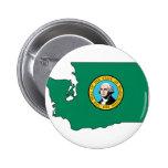 Washington Flag Map Pin