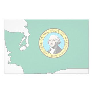 Washington Flag Map Stationery