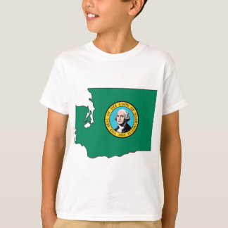 Washington Flag Map T-Shirt