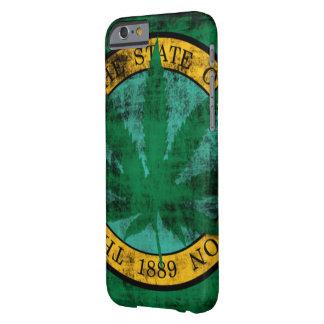 Washington Flag Pot Leaf Grunge Barely There iPhone 6 Case