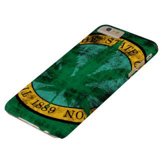 Washington Flag Pot Leaf Grunge Barely There iPhone 6 Plus Case