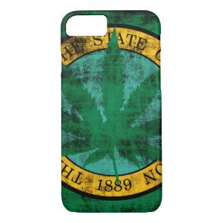 Washington Flag Pot Leaf Grunge iPhone 7 Case