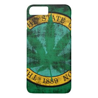 Washington Flag Pot Leaf Grunge iPhone 7 Plus Case
