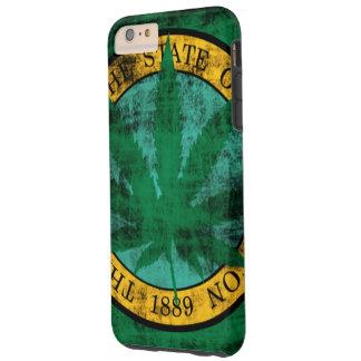 Washington Flag Pot Leaf Grunge Tough iPhone 6 Plus Case