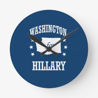 WASHINGTON FOR HILLARY ROUND CLOCKS